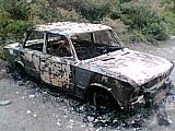 Машину угнали, и подожгли